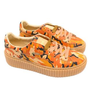 Puma by Rihanna Orange Camo Print Creepers