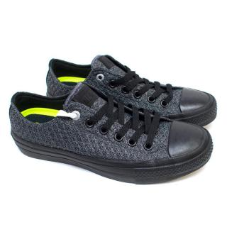 Converse Unisex Mesh Thunder and Black Low Top Sneakers