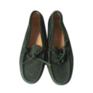 Todds Green Suede Loafers