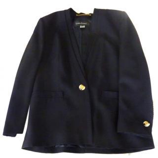 Louis Feraud Navy Wool Jacket