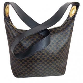 Celine Black Macadam PVC Shoulder Bag