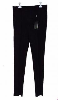 New Giorgio Armani Black Pinstripe Trousers