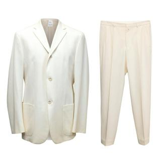 Jil Sander Cream Two Piece Suit