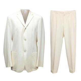 Jil Sander Cream Two Piece Suit