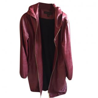 Louis Vuitton Hooded Leather coat