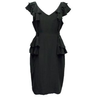 Project D 'Imagine Black' Ruffle Tie Dress