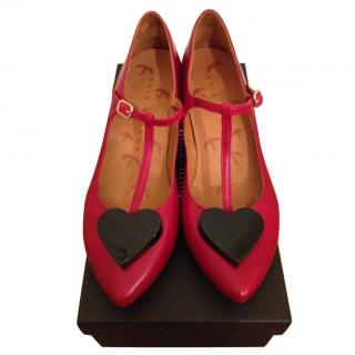 Chie Mihara Red Mary Janes Heels