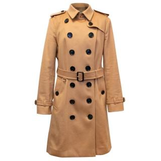 Burberry 'Sandringham' Tan Cashmere Trench Coat