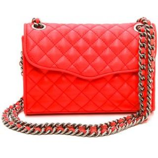 Rebecca Minkoff Quilted Affair Bag in Fire Red