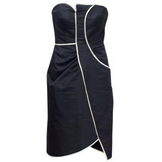 Oscar de la Renta Strapless, Structured Pencil Dress