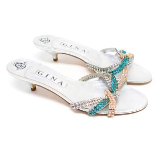 Gina Kitten Heel Embellished Sandals