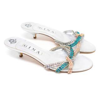 Gina Kitten Heel Embellished Sandals