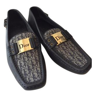 Dior Grey Printed Loafers