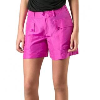 Ralph Lauren Black Label pink silk shorts