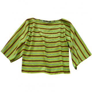 Ralph Lauren Black Label green silk top