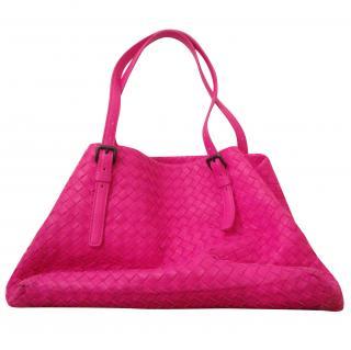 Bottega Veneta hot pink tote bag