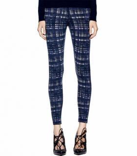 Tory Burch Lindsay Plaid Wool Blend Trousers