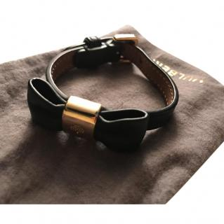 Mulberry Bow black Leather Bracelet