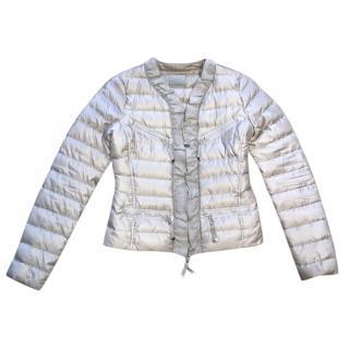 Pinko Taupe Frill Detail Jacket
