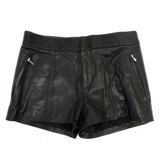Theysken's Theory Black Paluccia Leather Shorts
