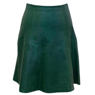 Kate Spade Green Leather Skirt