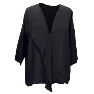 The Row Black Frill Blouse