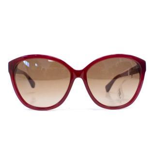 Diane von Furstenberg Pink 'Blaire' Cat Eye Sunglasses