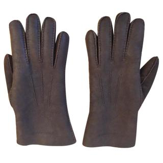Burberry Shearling Sueded effect Leather Gloves