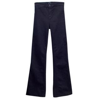 J Brand Blue Flare High Rise Jeans