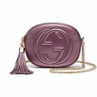 Gucci Soho Metallic Leather Mini Chain Bag