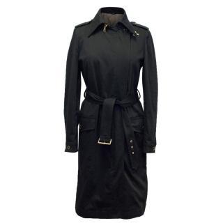 Fay Black Trench Coat