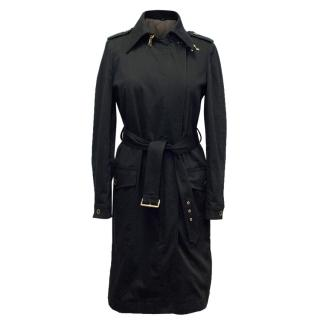 Fay Black Trench Coat