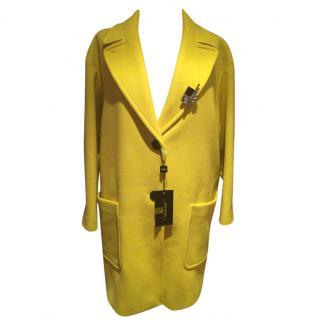 Max Mara Yellow Virgin Wool Coat