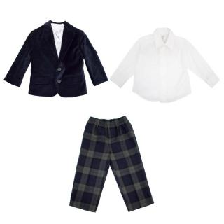 Nautica Kid's Velvet Blazer and White Shirt and Trousers
