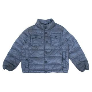 Moncler Boys Blue Waterproof Lightweight Jacket
