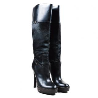Gucci Black Pony Hair Boots