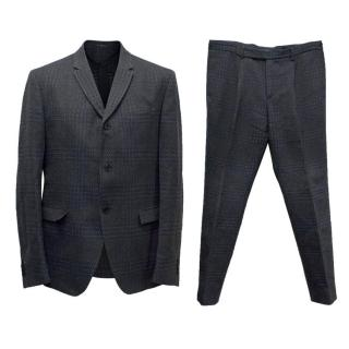 Fendi Dog Tooth Check Navy and Black Suit