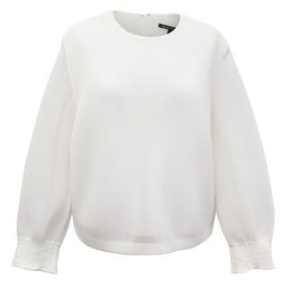 Theyskens Theory Cream Sweatshirt