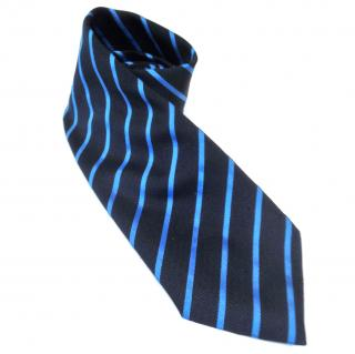 Moschino Blue Striped Silk Tie