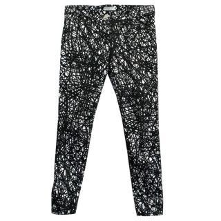 Balenciaga Black and White Pattern Skinny Jeans