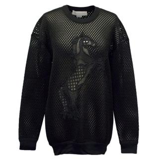 Stella McCartney Black Mesh Neoprene Sweatshirt