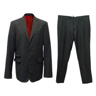 Dsquared2 Red and Grey Check Suit