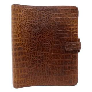 Mulberry Tan Croc Embossed Organizer