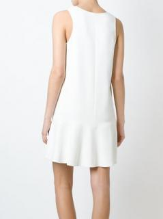 Ermanno Scervino white wool dress