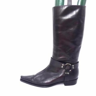 Sergio Rossi Flat Pointed-Toe High Knee Boots