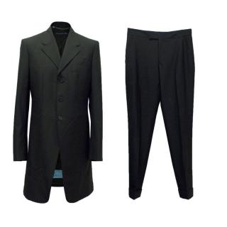 Alexander McQueen Two Piece Black Wool Suit