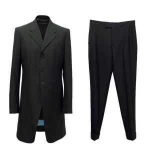 Alexander McQueen Two Piece Black Wool Suit