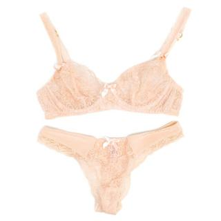 Agent Provocateur Nude Lace Bra and Panties Set