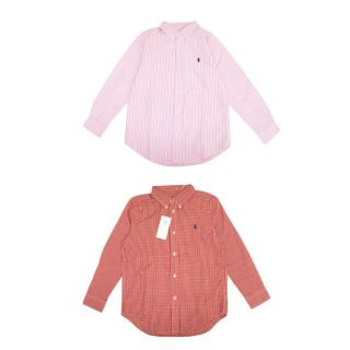Ralph Lauren Pink and Red Boys Shirt