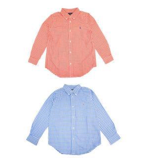 Ralph Lauren Red and Blue Check Boys Shirt